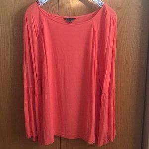 Flowy coral blouse